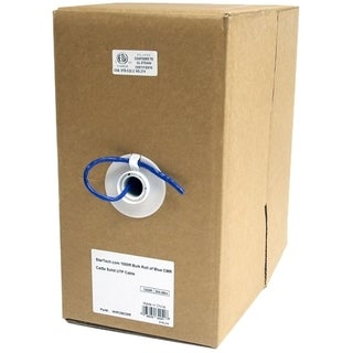 1000 ft Bulk Roll of Blue CMR Cat5e Solid UTP Cable