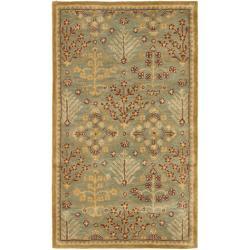 Safavieh Handmade Tree of Life Slate Blue Wool Rug (2' x 3')