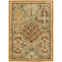 Safavieh Handmade Tree of Life Slate Blue Wool Rug - 2' X 3'