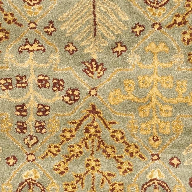 Safavieh Handmade Tree of Life Slate Blue Wool Runner (2'3 x 20') - Thumbnail 2