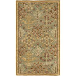 Safavieh Handmade Tree of Life Slate Blue Wool Rug (3' x 5')