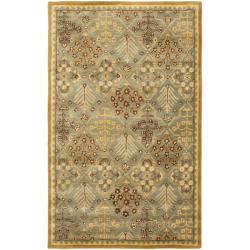 Safavieh Handmade Tree of Life Slate Blue Wool Rug (4' x 6')