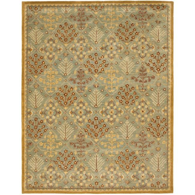 Safavieh Handmade Tree of Life Slate Blue Wool Rug (5' x 8')