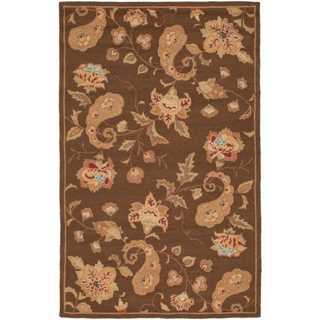 "Safavieh Handmade Paisley Brown Wool Rug - 8'9"" x 11'9"""