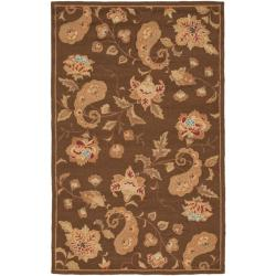 Safavieh Handmade Paisley Brown Wool Rug - 8'3 x 11' - Thumbnail 0
