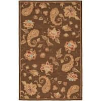 Safavieh Handmade Paisley Brown Wool Rug - 8'3 x 11'