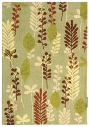 Safavieh Handmade Ferns Light Green Wool Rug - 7'9 x 9'9 - Thumbnail 0