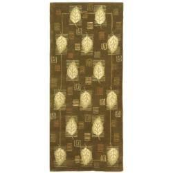 Safavieh Handmade Foliage Sage Wool Runner (2'6 x 8')