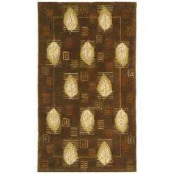 Safavieh Handmade Foliage Sage Wool Rug (7'9 x 9'9)