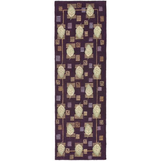 Safavieh Handmade Foliage Violet Wool Runner (2'6 x 6')