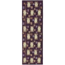 Safavieh Handmade Foliage Violet Wool Runner (2'6 x 8')