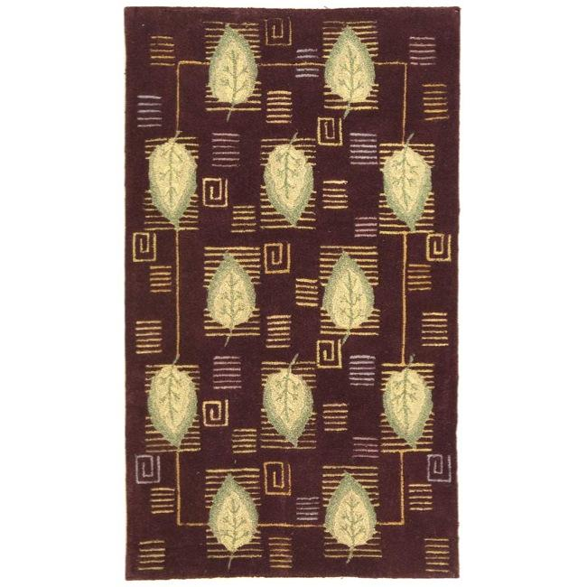 Safavieh Handmade Foliage Violet Wool Rug (3'9 x 5'9)