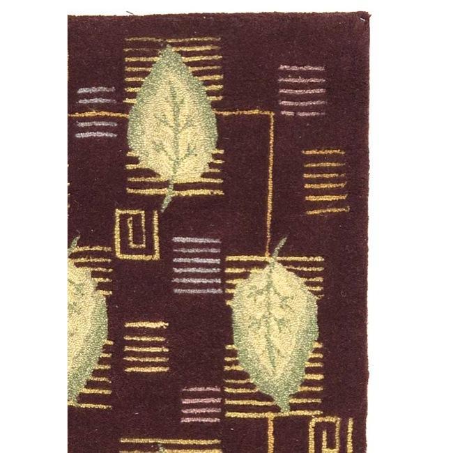 Safavieh Handmade Foliage Violet Wool Rug (3'9 x 5'9) - Thumbnail 1