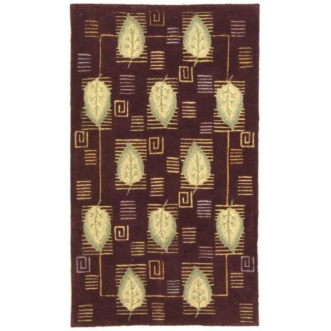 "Safavieh Handmade Foliage Violet Wool Rug - 8'9"" x 11'9"""
