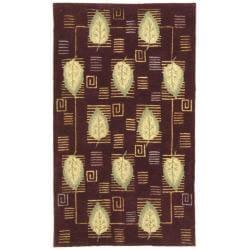 Safavieh Handmade Foliage Violet Wool Rug - 8'3 x 11' - Thumbnail 0