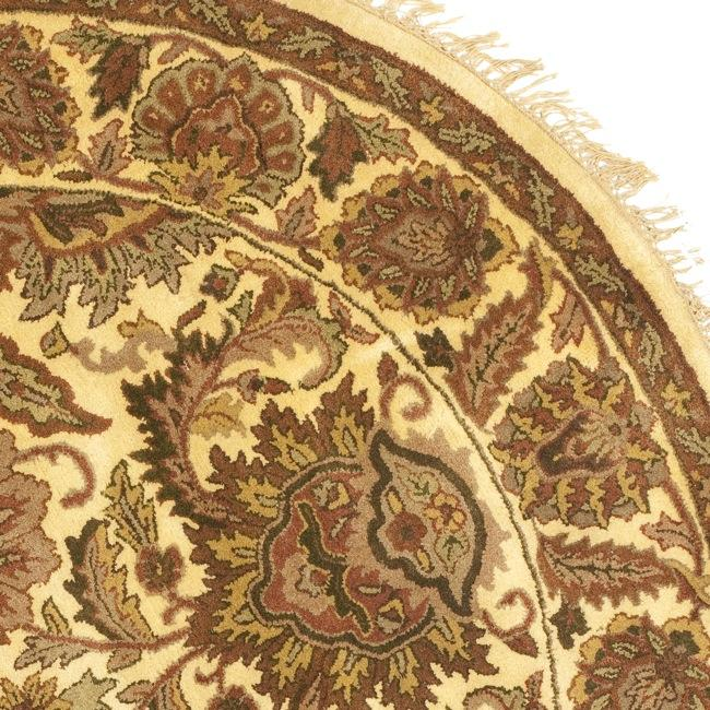 Safavieh Handmade Classic Jaipur Gold Wool Rug (6' Round) - Thumbnail 1