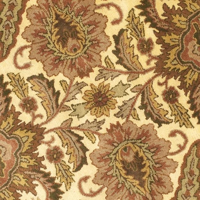 Safavieh Handmade Classic Jaipur Gold Wool Rug (6' Round) - Thumbnail 2