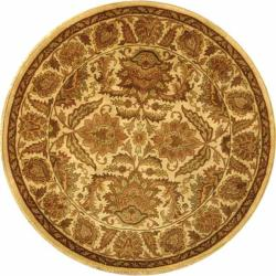 Safavieh Handmade Classic Jaipur Gold Wool Rug - 6' x 6' Round - Thumbnail 0