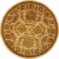 Safavieh Handmade Classic Jaipur Gold Wool Rug - 6' x 6' Round