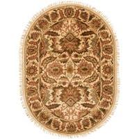 "Safavieh Handmade Classic Jaipur Gold Wool Rug - 7'-6"" x 9'-6"" oval"