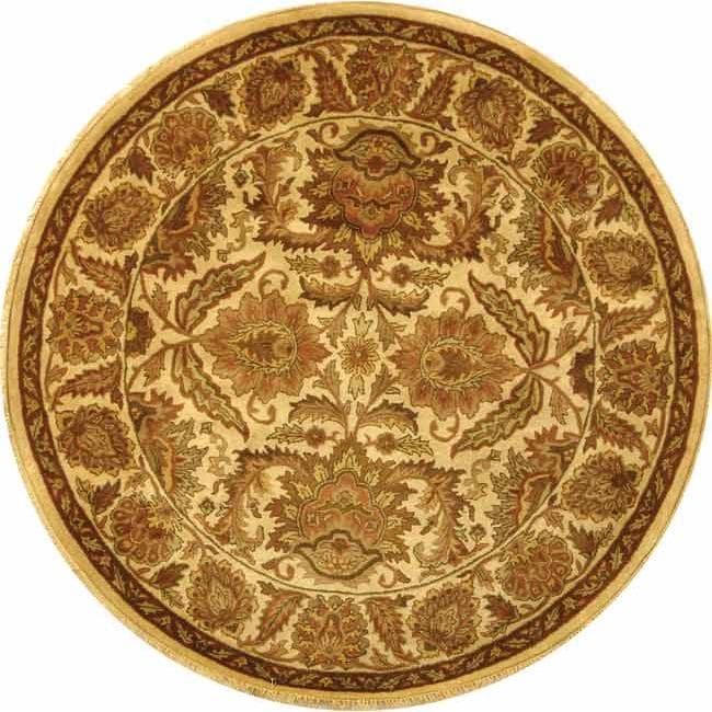 Safavieh Handmade Classic Jaipur Gold Wool Rug 8 Round
