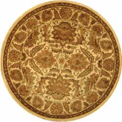 Safavieh Handmade Classic Jaipur Gold Wool Rug (8' Round)