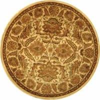 Safavieh Handmade Classic Jaipur Gold Wool Rug - 8' x 8' Round