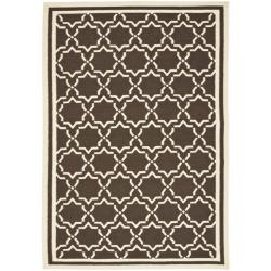 Safavieh Hand-woven Moroccan Reversible Dhurrie Chocolate/ Ivory Wool Rug (6' x 9')