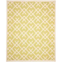 Safavieh Handwoven Moroccan Reversible Dhurrie Light Green/ Ivory Wool Area Rug (4' x 6')