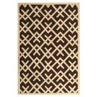 Safavieh Handwoven Moroccan Reversible Dhurrie Chocolate/ Ivory Wool Area Rug (3' x 5')