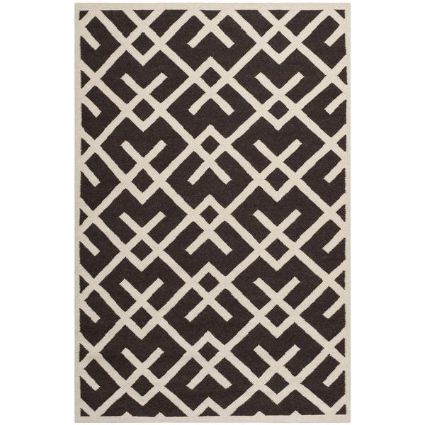 Safavieh Handwoven Moroccan Reversible Dhurrie Chocolate
