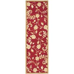 """Safavieh Trellis Simply Clean Hand-hooked Red/ Gold Rug (2' 6"""" x 10')"""