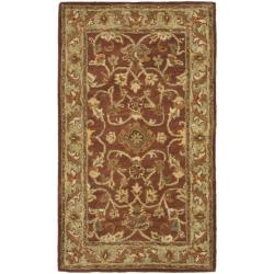 Safavieh Handmade Golden Jaipur Rust/ Green Wool Rug (2' x 3')