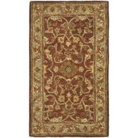 Safavieh Handmade Golden Jaipur Rust/ Green Wool Rug - 2' X 3'