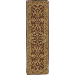 Safavieh Handmade Golden Jaipur Rust/ Green Wool Rug (2'3 x 10')