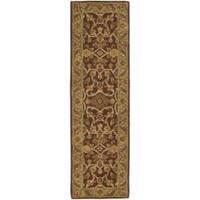 Safavieh Handmade Golden Jaipur Rust/ Green Wool Rug - 2'3 x 10'