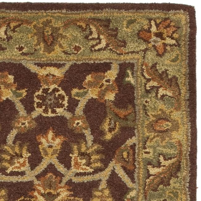 Safavieh Handmade Golden Jaipur Rust/ Green Wool Rug (2'3 x 8') - Thumbnail 1