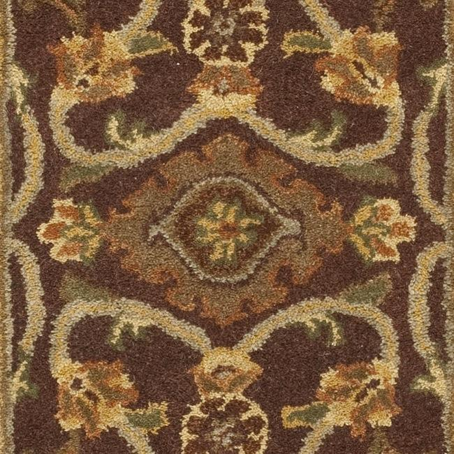 Safavieh Handmade Golden Jaipur Rust/ Green Wool Rug (2'3 x 8') - Thumbnail 2