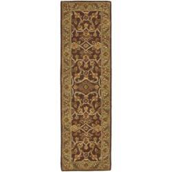 Safavieh Handmade Golden Jaipur Rust/ Green Wool Rug (2'3 x 8')