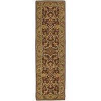 "Safavieh Handmade Golden Jaipur Rust/ Green Wool Rug - 2'3"" x 8'"