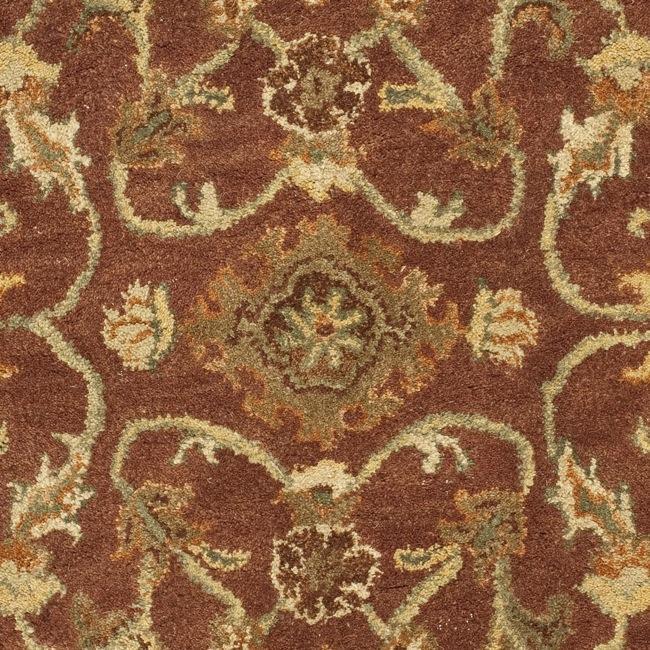 Safavieh Handmade Golden Jaipur Rust/ Green Wool Rug (3' x 5') - Thumbnail 2