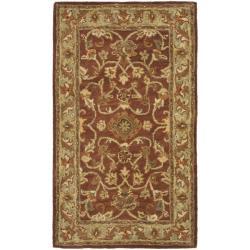 Safavieh Handmade Golden Jaipur Rust/ Green Wool Rug (3' x 5')