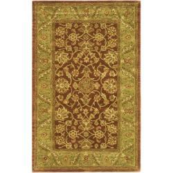 Safavieh Handmade Golden Jaipur Rust/ Green Wool Rug (4' x 6')