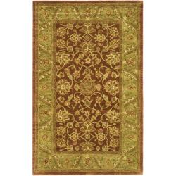Safavieh Handmade Golden Jaipur Rust/ Green Wool Rug (5' x 8')