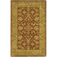 Safavieh Handmade Golden Jaipur Rust/ Green Wool Rug - 5' x 8'