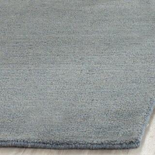 Safavieh Handmade Himalaya Solid Blue Wool Rug (2'3 x 8')