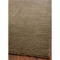 Safavieh Handmade Himalaya Solid Brown Wool Area Rug - 5' x 8'