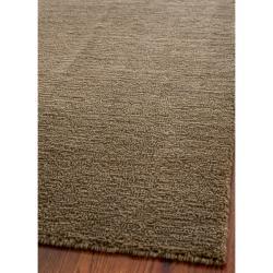 Safavieh Handmade Himalaya Solid Brown Wool Area Rug (6' x 9')