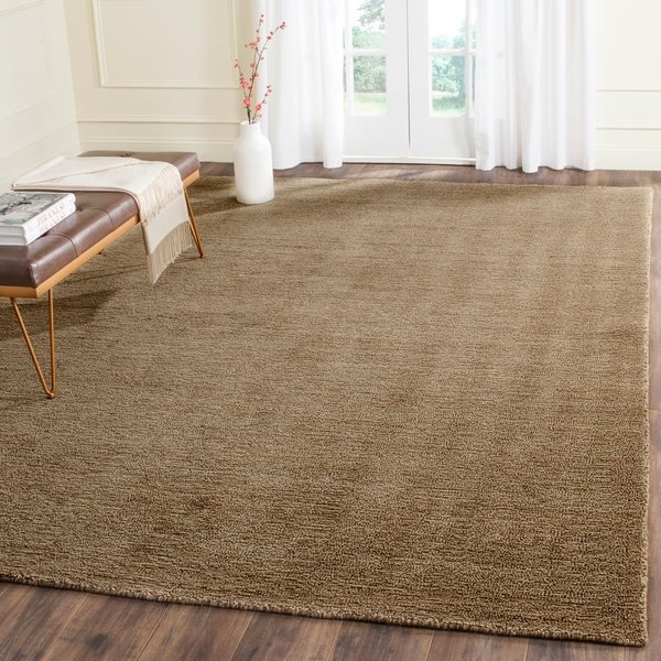 Safavieh Handmade Himalaya Solid Brown Wool Area Rug - 6' x 9'