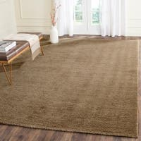 Safavieh Handmade Himalaya Solid Brown Wool Area Rug - 8' x 10'